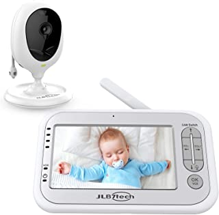 "LBtech Video Baby Monitor with One Camera and 4.3"" LCD,Auto Night Vision,Two-Way Talkback,Temperature Detection,Power Savi..."