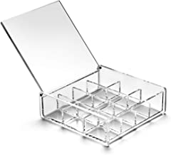 HanLingGG Acrylic Jewelry Rings Earrings Box Organizer 12 Grids Clear Storage Container for Necklaces Beads and Small Tools with Lid
