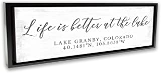 Pretty Perfect Studio Custom Lake House Sign, Personalized Family Life is Better at The Lake Home Living Room Wall Art Decor on 10