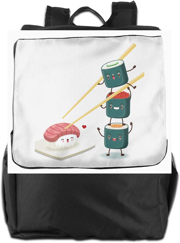 Sushi Partner Printed Boys Backpack Lightweight Casual Shoulder Bag School Daypacks
