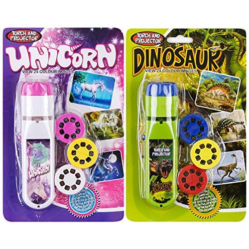Georgie Porgy Linternas Proyector Niños Proyector Juguetes Pared Techo Tienda Educativo Conjunto de Ciencia (Dinosaurio + Unicornio)
