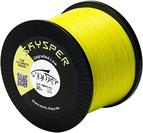 13,2 KG € 0,038//m 500 Meter geflochtene Angelschnur Stärke 0,25 mm in gelb