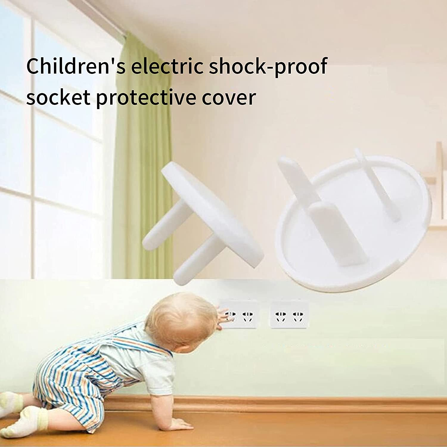 SHIJUNHE Outlet Plug Covers, Child Proof Protector Safety Caps (30 Pack)