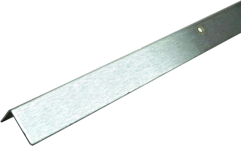 "1 Brushed Steel Angle Corner Stair Guard 24/"" x 1.5/"" x 1/"" HEAVY DUTY 16 Gauge VG"