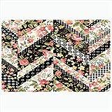 Ahawoso Bath Rug for Bathroom Non Slip Mats 20x30 Inches Multicolor Backdrop Floral Pattern Roses Brunch...