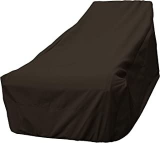 True Guard Patio Furniture Covers Waterproof Heavy Duty - Chaise Lounge Cover, 600D Rip-Stop, Fade/Stain/UV Resistant for Outdoor Patio Furniture, Dark Brown