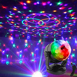USDWRM Betopper Moving Head Light Voice Control RGB Magic Ball LED Stage Light USB or Battery Dual Operated Laser Projecto...