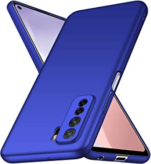 Wuzixi Case for Huawei P40 lite 5G. Resilient Shock Absorption and Ultra Thin Design Cover, Rubberized Hard PC Back Case, ...