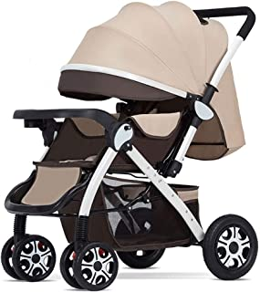 Baby Stroller, Baby Car,Stroller Can Sit Reclining Lightweight Folding Stroller Two-Way Baby Carriage Net Plate Pram (Color : E)