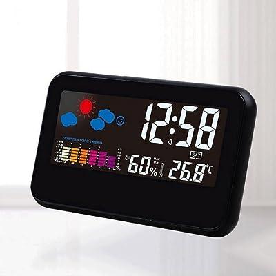 Despertador ZHAOJING Pantalla Grande Calendario Retroiluminación LED Pronóstico del Tiempo Reloj Dormitorio Cabecera Reloj pequeño