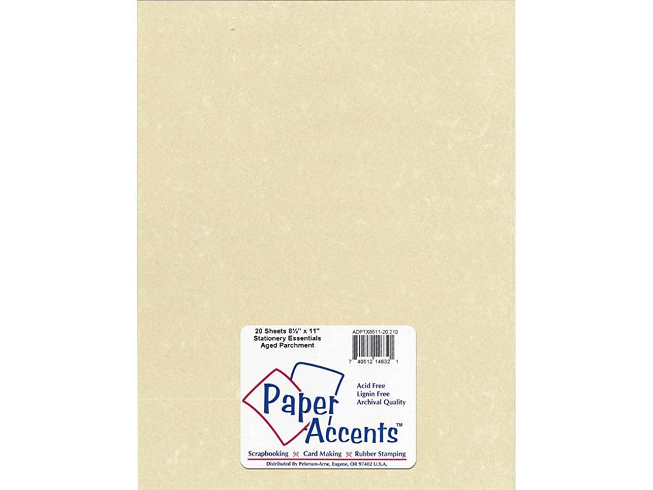 Accent Design Paper Accents Lite Stock 8.5x11 LiteStk Parch Aged