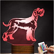 Schnauzer Optical Illusion 3D LED Lamp Night Light, USB Powered Remote Control Changes The Color of The Light, Bedroom Decoration Lighting for Children's Christmas Gifts Zjnhl Exquisite Gift