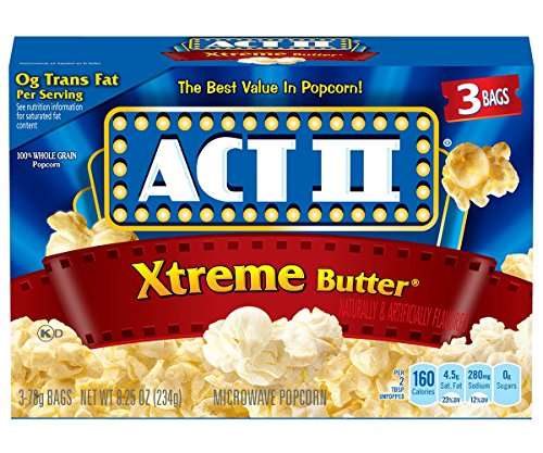 Find Bargain ACT II Xtreme Butter Microwave Popcorn Bags, 3-Count (Pack of 12)