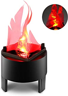 TOPCHANCES Flame Effect Light, 110V 3W 3D LED Artificial Fake Fire Flame Effect Light Campfire Centerpiece Flame Lightning Torch Light for Christmas Halloween Stage Indoor Decoration (Yellow)