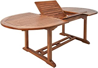 comprar comparacion Deuba Mesa de jardín de madera eucalipto