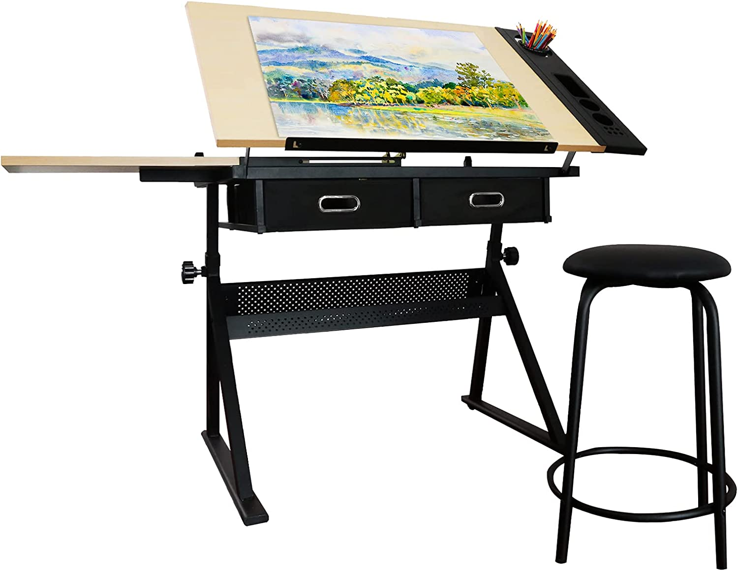 Height Spring new work one after another 2021 spring and summer new Adjustable Drafting Draft Drawing Tiltabl Table Desk
