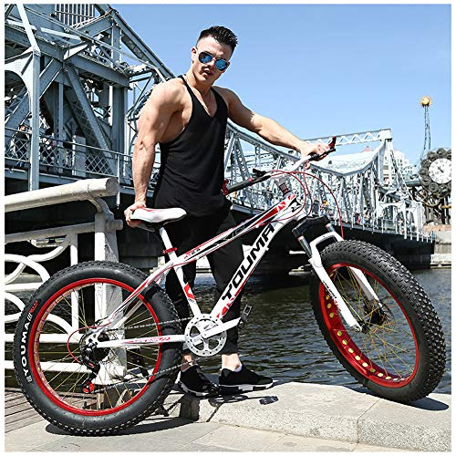 ATRNA 26 Zoll Mountainbike, Scheibenbremsen MTB, Jugendmountainbike Jugendfahrrad Jungen-Mädchen-Fahrrad Herren-Damen-Fahrrad für den Outdoor