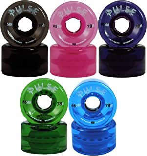 ATOM Pulse Outdoor Quad Skating Wheels Green set of 4