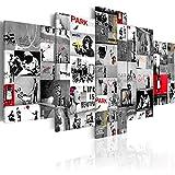 murando Quadro 200x100 cm 5 Pezzi Stampa su Tela in TNT XXL Immagini Moderni Murale Fotografia Grafica Decorazione da Parete i-C-0092-b-p Banksy Collage