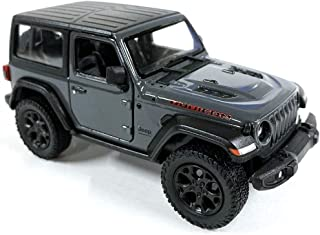 Jeep Wrangler Rubicon 4x4 Hard Top Off Road Exploration Diecast Model Toy Car Grey