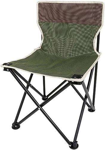 Ultraléger Portative Chaise de camping légère avec dossier, tabouret portatif pliant, idéal pour les voyages en extérieur flexible (Couleur   Vert, Taille   36  36  60cm)