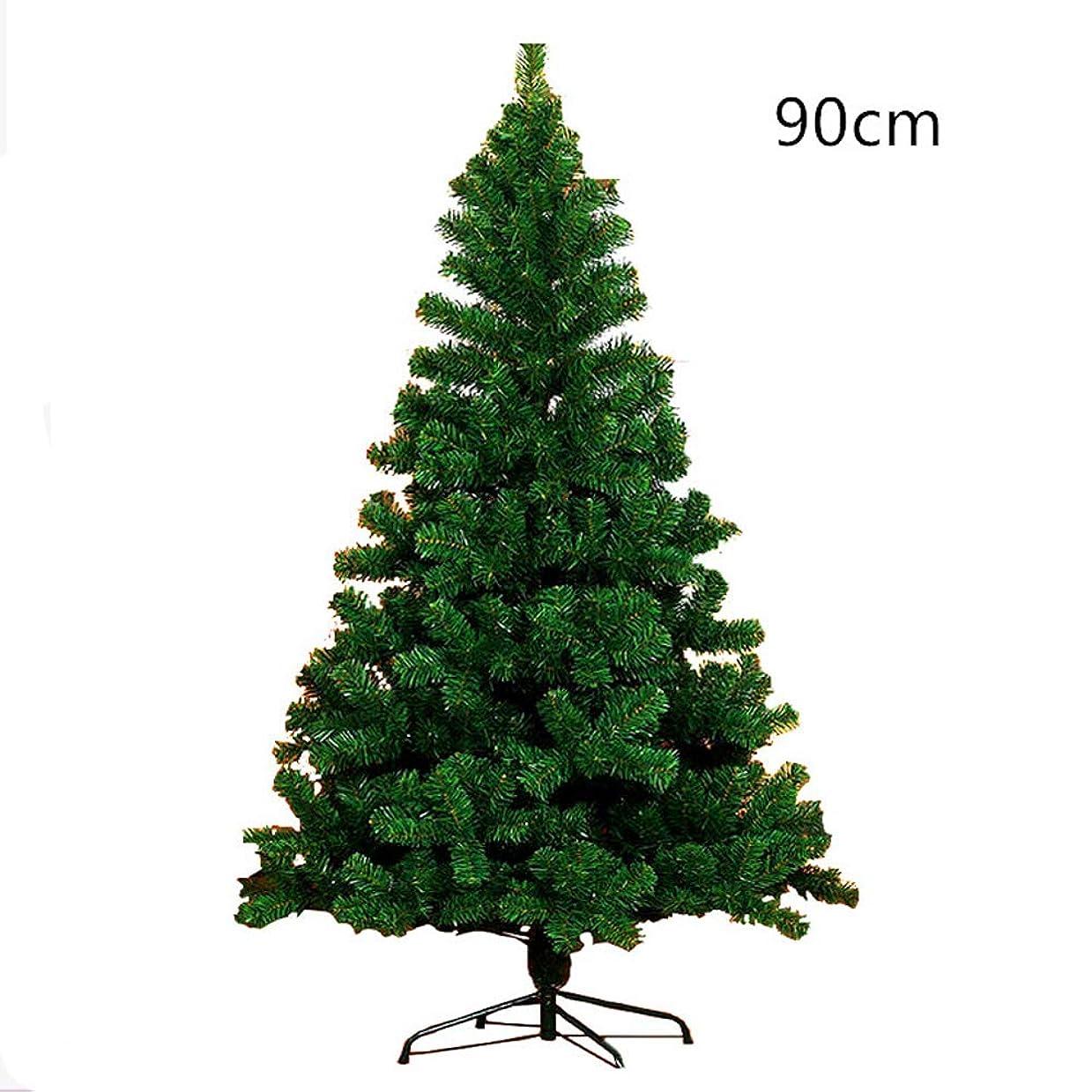レモン摂氏度配る人工的なクリスマスツリークリスマスホームパーティーDecortaionグリーンミニチュアツリー用プラスチッククリスマスの装飾ホルダーベース,グリーン,90cm