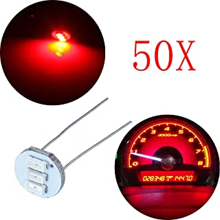 cciyu 50Pcs 4.7mm-12v Car Red Mini Bulbs Lamps Indicator Cluster Speedometer Backlight Lighting Replacement fit for GM GMC