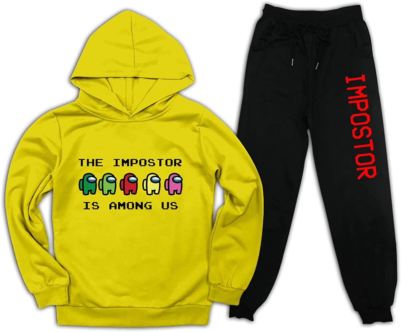 The Impostor is Among Us Conjunto de ch/ándal para j/óvenes con capucha y pantalones de ch/ándal