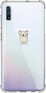 Oihxse Compatible with Galaxy J7 Pro/J730 Case Clear [Air Cushion] Shockproof TPU Bumper Back Cover, Ultra Thin Slim Fit Cute Design Soft Silicone Crystal Gel Transparent Phone Shell Skin-Koala