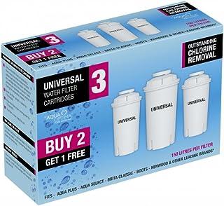 comprar comparacion Aqua Optima RUF303 - Filtro de agua universal, paquete de 3