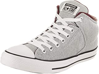 Converse Unisex Chuck Taylor All Star High Street Hi White/Dark Burgundy Casual Shoe 10.5 Men US / 12.5 Women US
