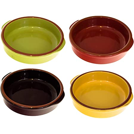 Oval Tapas Serving Dishes Set Of 6 Tapas Dishes Or Ramekin Dishes Constructed From A Non Stick Durable Ceramic Coating Oven And Dishwasher Safe From Jean Patrique Amazon Co Uk Kitchen Home
