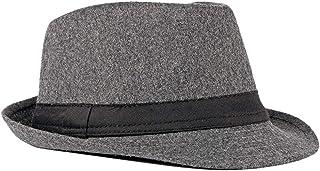 Elegante Sombrero de Jazz Sombrero Fieltro Panamá ala Ancha Hat Fedora Sombreros de Sombrerera Sombreros de Vestir Trilby Cap para Viaje Fiesta Boda Viaje de Hombres Mujers