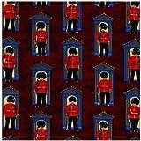 Fat Quarter On Jahrhundert London Guards-Burgundy Nutex,