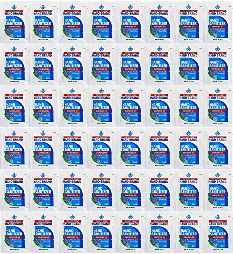 100-Pack Hand Sanitizer Gel Single-Use Packets - Hand...