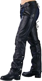 Ladies Biker Chaps with LACES ON THE BACK