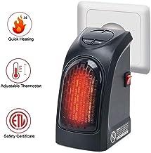 Estufa Eléctrica Calefactor Mini Portátil Handy Heater 400W Bajo Consumo Temperatura Regulable Baño Casa Oficina, Pantalla LED Digital Eléctrica Montada En La Pared