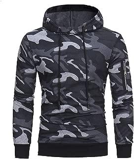 MogogoMen Casual Camouflage Slim Hoodie Fashion Pullover Top Sweatshirt