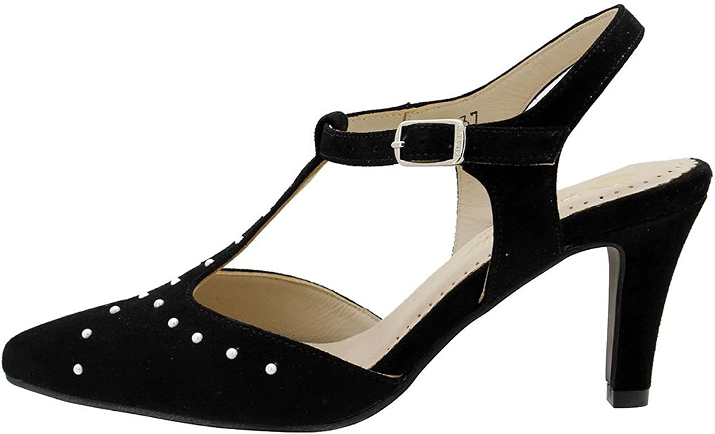 PieSanto T-Strap 180185 Komfort Damenlederschuh