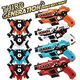 MOONTOY Laser Tag Guns and Vests Set of 4-Laser Tag Guns for Kids