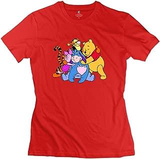 Women Winnie The Pooh Custom Retro White T Shirt by Mjensen