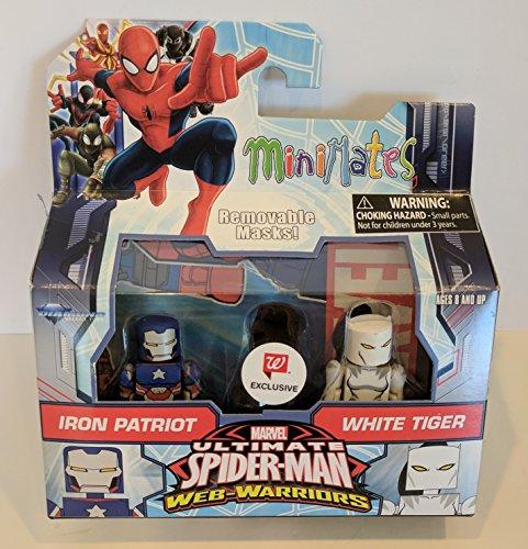 Minimates Marvel Iron Patriot & White Tiger Walgreens Minifiguras Serie 6