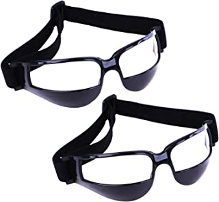 Olgaa Basketball Goggles Sport Dribble Specs Goggles Black Sports Goggles Dribbling Specs Basketball Training Aid for Teenagers Kids Gifts (2 Pieces)