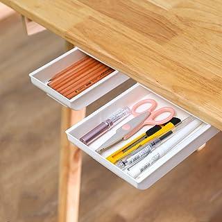2 Pack Under Desk Drawer Organizer Desk Drawer Attachment,Desk Accessories & Workspace Organizers,Hidden Desktop Organizer...