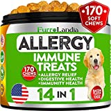 Best Allergy Relief Immune Supplement for Dogs - for Seasonal & Food Allergies - Skin Itch, Hot Spots and More...