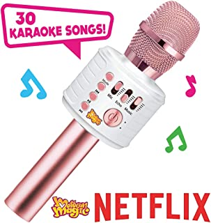 Move2Play Motown Magic Bluetooth Karaoke Microphone, Pink, for Girls, for 4 5 6 7 8 Year..