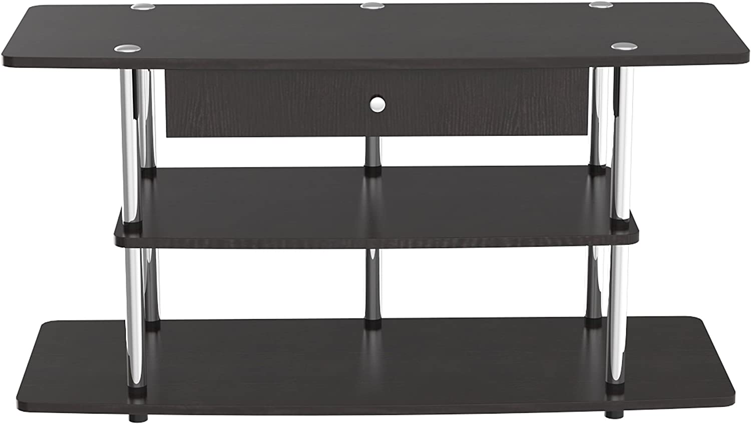 Convenience Concepts 131035D Modern 3-Tier Wide TV Stand with Drawer