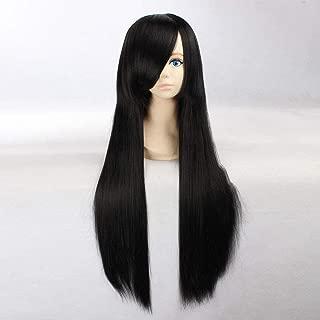 HOOLAZA Black Extra Long Straight Wig Miho Azuki Vincent Valentine Tifa Lockhart Shana Hirai Yukari Katsura Kotarou Yagiri Namie Shioiri Yayoi for the Halloween Party Cosplay Wigs