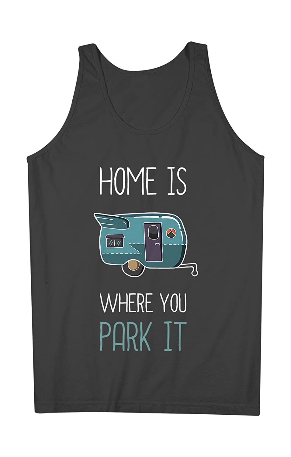 Home Is Where You Park It おかしいです Camping Camper Holiday 男性用 Tank Top Sleeveless Shirt