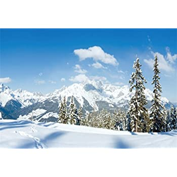 8x10ft Snow Mountains Backdrop Nature Scenery Photography Background Photo Studio Props Room Murals Decor LHFU590